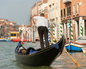 Venice views 2011, gondolier