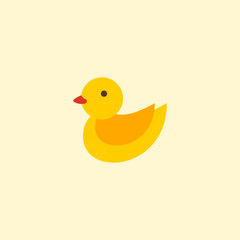 Duck toy icon flat element. Vector illustration of duck toy icon flat isolated on clean background for your web mobile app logo design.