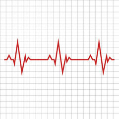 Pulse. The concept is a Medical indicator of the state of the heart rhythm. Vector illustration.