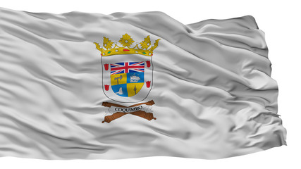 Coquimbo City Flag, Country Chile, Isolated On White Background