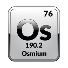 The periodic table element Osmium. Vector illustration