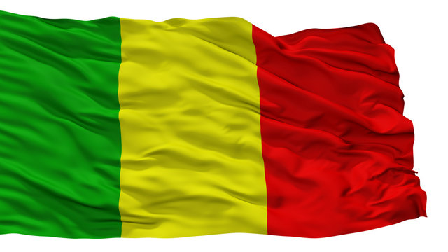 Chateauroux City Flag, Country France, Isolated On White Background