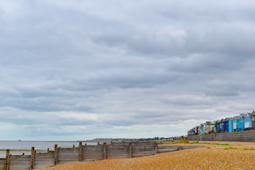 Head to Herne Bay central beach, Kent as the hot weather continues across the UK. Herne Bay, Kent, UK, August, 2018