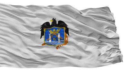 Trujillo City Flag, Country Peru, Isolated On White Background
