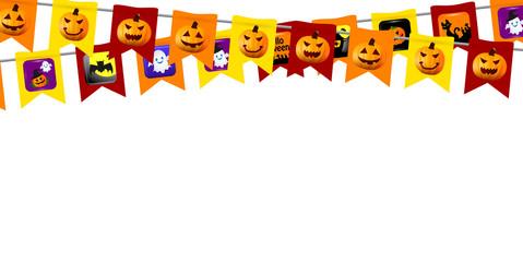 ハロウィン かぼちゃ 旗 背景