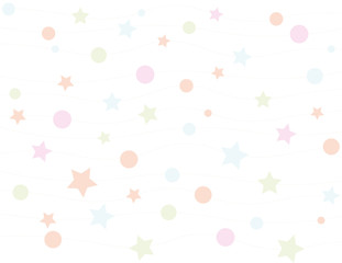 Circles and stars pattern background