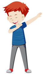 boy dancing white background