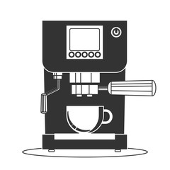 Coffee maker machine icon flat. Simple Stock flat vector illustration.