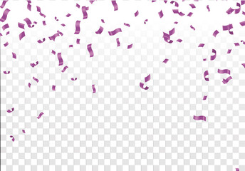 Stock vector illustration defocused Purple confetti isolated on a transparent background