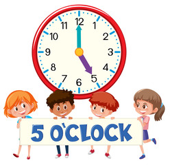 5 o'clock and students