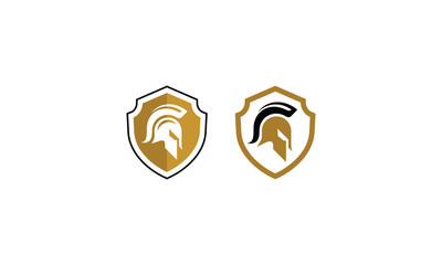 Spartan shield logo vector icon
