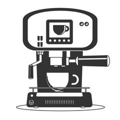 Coffee maker machine icon flat. Simple Stock flat vector illustration.