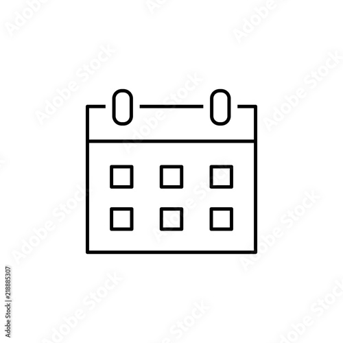 calendar icon  Element of simple icon in material style for