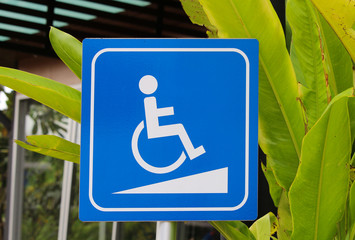 wheelchair walkway symbol or wheelchair slope symbol.