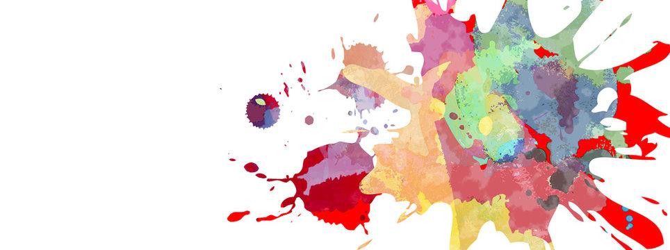 飛び散ったカラフルな塗料