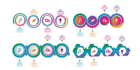 creative timeline infographic template element for workflow,process,presentation with modern concept design vector