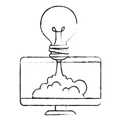 monitor computer with bulb launcher
