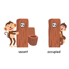 Opposite vacant and occupied vector illustration