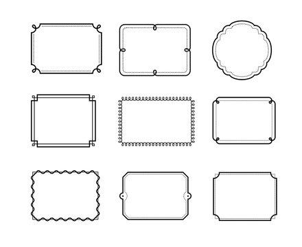 Set of vintage frame. Vector elements. EPS10.
