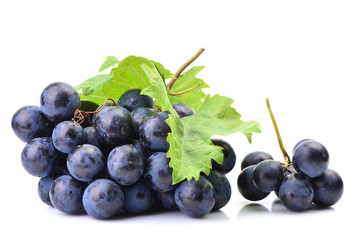 Grapes on a white background