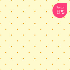 Seamless Texture with Small Yellow Dot. Hand Drawn Graphic Print. Yellow Polka Dot Pattern Background Vector Illustration