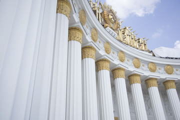 building with columns in Moscow at VDNH