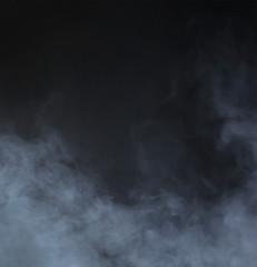 Garden Poster Smoke Grey smoke over black background. Abstract background.