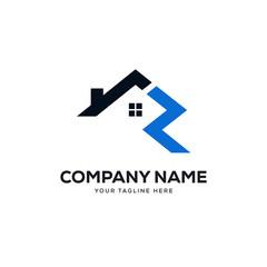real estate logo designs concept vector, initial letter R logo designs template