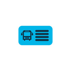 Bus ticket icon colored symbol. Premium quality isolated entry coupon element in trendy style.