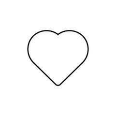Heart icon, love icon. vector illustration isolated on white background