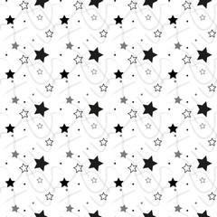 Stars Seamless Pattern. The vector image. Starry night sky