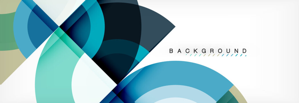 Vector circular geometric abstract background