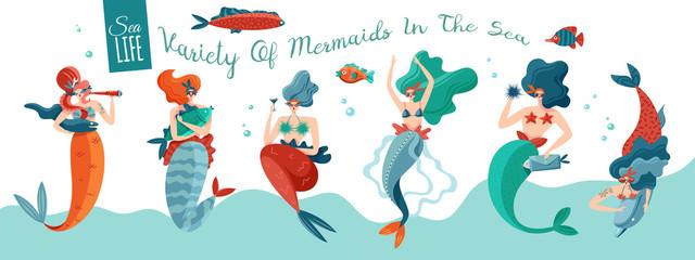 Funny Mermaids Banner