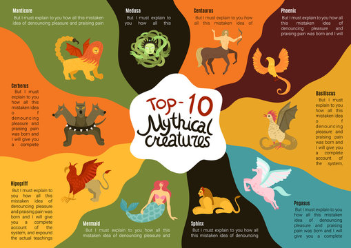 Mythical Creatures Infographics