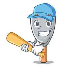 Playing baseball putty blade character cartoon
