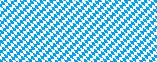 Oktoberfest Banner in bayrischen Farben mit Rautenmuster