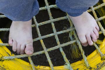 A Small Boys Feet