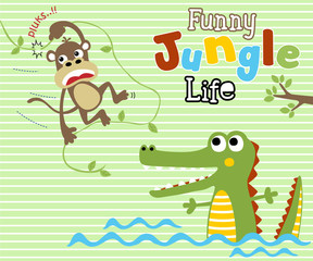 Funny animals cartoon