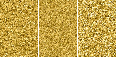 Gold glitter texture. Golden explosion of confetti. Shimmer sequins. Set design element.