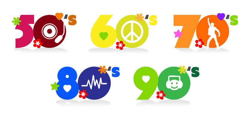 Music of fifties, sixties, seventies eighties and nineties