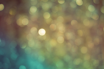 Abstract Glitter Defocused Background with Blinking lights blurred Bokeh