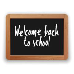 Vector Welcome Back to School on a Blackboard