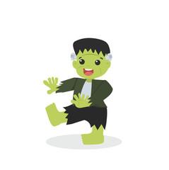 Halloween green Frankenstein character