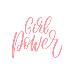 Girl Power inscription. Vector hand lettered phrase.