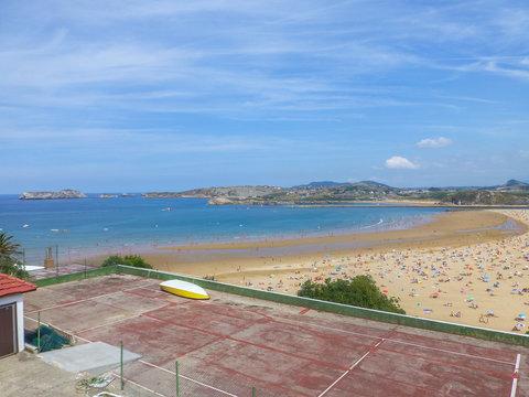 Playa de Suances, pueblo de Cantabria, España