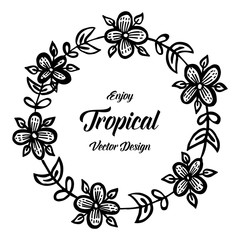 Enjoy tropical vector design with floral illustration collection