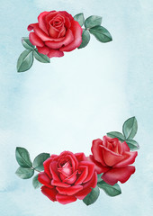 Watercolor illustration of a rose flower. Perfect for greeting cards or invitations