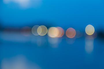 Bokeh Lights on blue