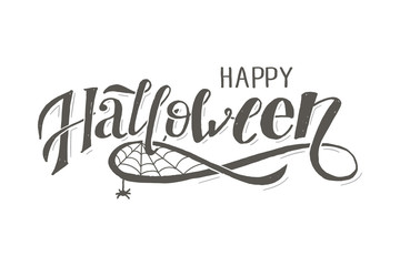 Happy Halloween lettering Calligraphy Brush Text Holiday Vector Sticker