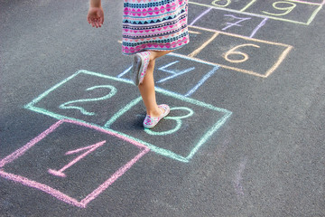 street children's games in classics. Selective focus.